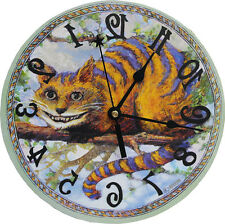 Cheshire Cat clock,Alice in Wonderland,Novelty,backwards, White Rabbit Classic