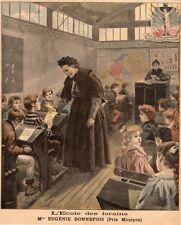MELLE EUGENIE BONNEFOIS PRIX MONTYON ECOLE DES FORAINS IMAGE 1897 PRINT