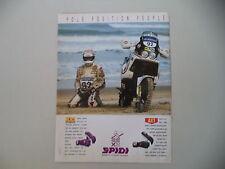 advertising Pubblicità 1990 SPIDI e MOTO CAGIVA LUCKY EXPLORER