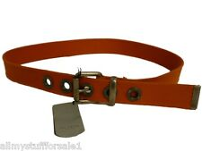 Genuine Ted Baker Canvas Designer Belt In Orange Mens New XXL 38