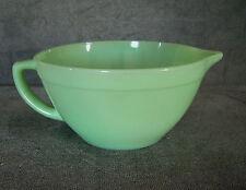 """Vintage Fire-King JADEITE BATTER BOWL Handled Pitcher Green Glass 7.5"""" Inch Old"""
