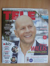 BRUCE WILLIS on front cover TELE MAGAZYN 41/2016 in.Sherlock,Friends,Tom Hardy