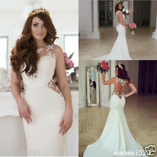 Mermaid Wedding Dress Mermaid Sheer Tulle Lace Vestido De Noiva Lace Bride Gown