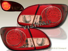 2003-2008 TOYOTA COROLLA RED LED TAIL LIGHTS