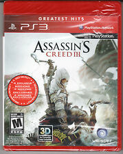 Assassin's Creed III  PlayStation 3 *NEW**SEALED*