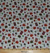 CHRISTMAS GIFTS FABRIC! BY THE HALF YARD 4 QUILTING! RED~GREEN HOLIDAY PRESENTS!