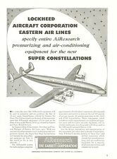 1950 AiResearch Ad Lockheed Super Constellation Eastern Air Lines Silver Fleet
