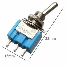 10PZ Mini Interruttori levetta 3-Pin SPDT ON-ON 6A 125V AC MTS-102 Toggle Switch