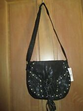 NEW ROXY HANDBAG HOBO PURSE TOTE VEGAN Shoulder BAG Crossbody Black