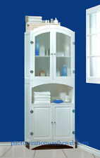 NEW! WHITE WOOD LINEN CABINET~BATHROOM/LAUNDRY STORAGE HOME DECOR FURNITURE $350