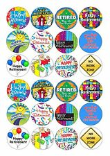 24 icing cupcake cake toppers decorations edible Happy retirement retired