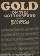 Jim Carson And His Cottonwood Wash Gold Discovery