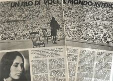 Q45 Clipping-Ritaglio 1974 Joan Baez