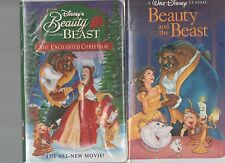 beauty and the beast black diamond edition(rare) the enchanted christmas vhs