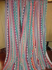 COLLIER CAMPBELL SOUTHWESTERN GOLD RED BLUE PURPLE TEAL DRAPERY PANELS 40 X 84