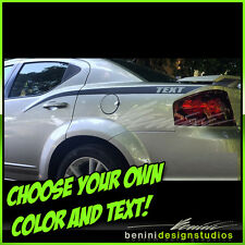 2008 2009 2010 2011 2012 2014 Dodge Avenger Side Spears Decal Graphics Stripes 1