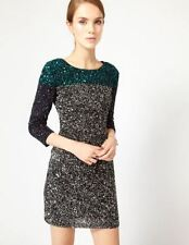 NWT French Connection FCUK Spiegal Sequins Grey/Silver Tunic Dress Sz 2 Orig$398