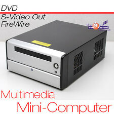 Assolutamente silenzioso Multimedia Mini-Computer Pc Dvd Intel Cpu S-VIDEO TV-Out 160gb 1gb
