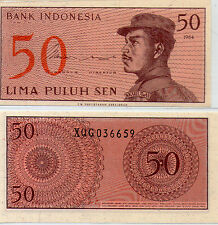 "Indonesia 50 cent  UNC 1964 ""X"" Replacement Banknote Rupiah"