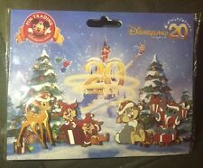 Disney 4 Pin Set DLRP DLP CHRISTMAS 20th 20 Paris Anniversary Stitch Thumper