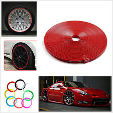 8M Car Wheel Hub Rim Edge Protector Tire Rubber Guard Sticker Line Strip Red