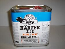 2K MS Fast Hardener 2.5 litre  2:1  Activator  High Quality Airo Catalyst