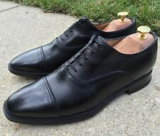 Santoni Black Captoe Oxford Shoes Made In Italy 8 EE $525
