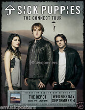 "SICK PUPPIES ""THE CONNECT TOUR"" 2013 SALT LAKE CONCERT POSTER-Alternative Metal"