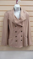 REDUCED LADIES CAMEL / BEIGE JERSEY EVENING JACKET  SIZE 12 BNWT
