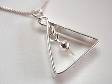 Triangle with Dangling Ball Pendant 925 Sterling Silver Corona Sun Jewelry