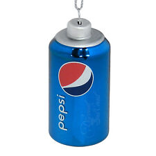 PEPSI CAN CHRISTMAS TREE ORNAMENT HAND BLOWN GLASS, METALLIC BLUE, NEW!