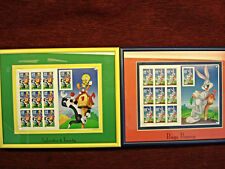 BUGS BUNNY AND SYLVESTER & TWEETY - TWO FRAMED & MATTED  SHEETS 32  CENT STAMPS