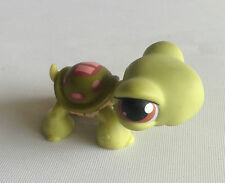 Littlest Pet Shop - RARE - 1st Gen - Turtle Pink Strips  - Brown Eye - No 7 - #7