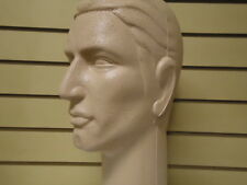 """Two (2) #626CCCS 16""""H Color-Coated tm Stylized MALE Mannequin Heads-Light-Skin"""