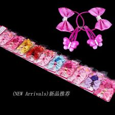 40pcs(10 Packets) Mixed Butterfly Baby Kids Girls Hair Pins Clips Bow Hair Bands