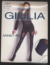 NEUF COLLANT FANTAISIE GIULIA ANNET 40 DEN TAILLE 3 = M BLEU NAVY LINE FASHION