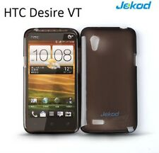 Jekod black TPU gel silicone case cover + screen protec. for HTC Desire VT T328t