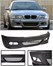 For 99-05 BMW E46 3-Series Sedan 4Dr M3 Style Front Conversion Bumper Cover P.P.