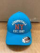 Aeropostale Fitted Hat Cap...Flexfit...Size Sm/Med...NWT...Teal Blue...$29.50