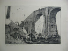 Bruno Croatto Rare Early 1900s Italian Etching Pirate's Cove Listed Italian