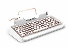 Retro Steampunk Mechanical keyboard Typewriter Daul USB Wired White Golden Color