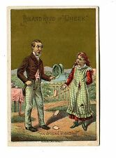 Victorian Trade Card ROLAND REED in CHEEK vocalist  comedian theatre