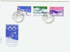 Liechtenstein FDC Ersttagsbrief 1979 Olympia Lake Placid Mi.-Nr.735-37