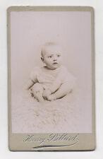 PHOTO CDV Carte de visite Enfant Bébé Henry BILLARD ANGOULÊME Vers 1900