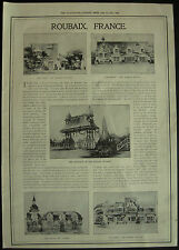 France Roubaix International Exhibition 1911 Photo Page Article
