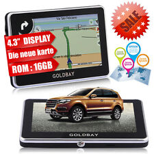 """GOLBAY 4.3"""" PKW Auto Navi GPS Navigationsgerät 16GB Navigation NEU Europa 2016"""