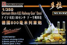 "Big Blue Boy 1/350 #36002 German 80cm K(E) Railway Gun ""Dora"" Resin Kit & Etched"