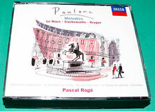 Poulenc # Chansons Villageoises etc Le Roux Cachemailler Kryger (Decca) 2 CD Set