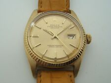 ROLEX OYSTER DATEJUST AUTOMATIC EN OR 18K  REF 1607 DE 1974