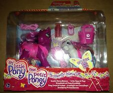 My Little Pony G3 Figure Seaside CHERRY BLOSSOM & Baby BEBE BEBE 2005 Brand New